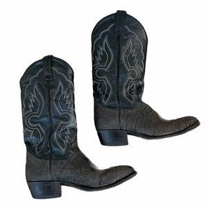 Tony Llama Western Black Cowboy Boots Men's SZ 8.5